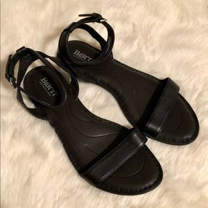 Born Black Ankle Strap Sandals, sz 7
